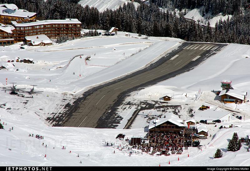Runway on dangerous snow covered slopes!