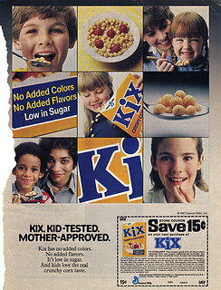 KIX. KID-TESTED. MOTHER APPROVED. ; Save 15¢  (( 1983 ))