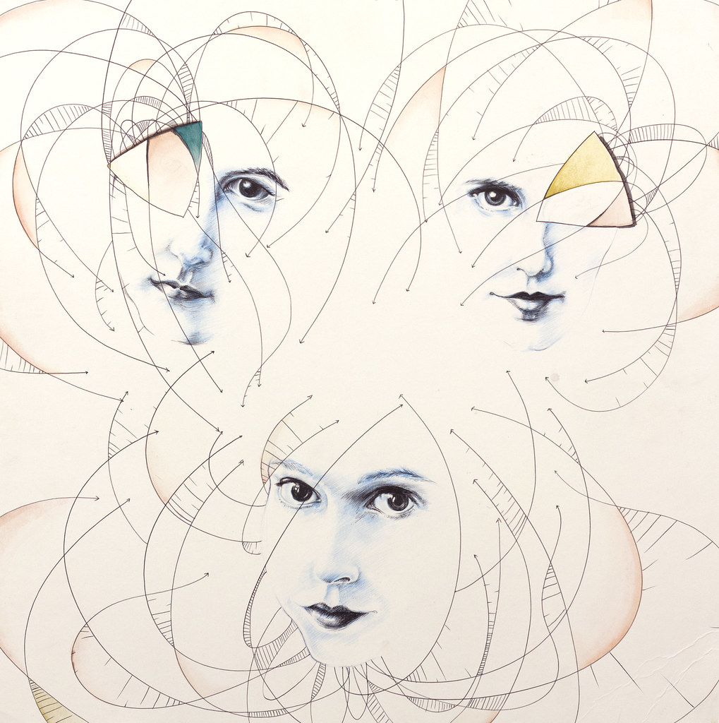 "Lauren Peck Bloom 24"" x 24"" Mixed Media, Pen, Graphite, Watercolor 2012"