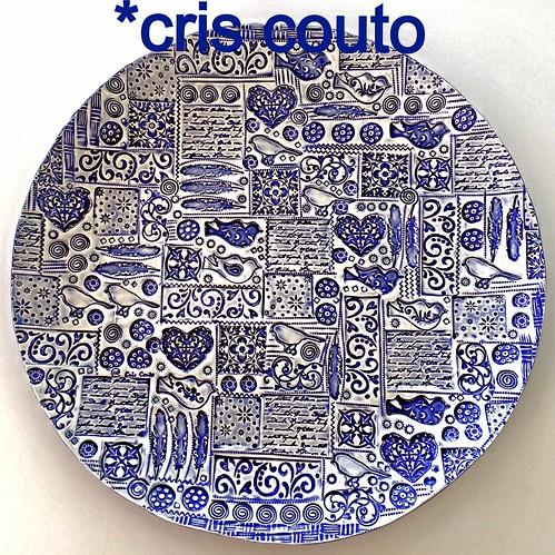 Prato Passarinhos AZUL by cris couto 73