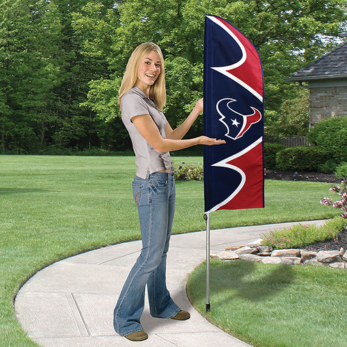 Houston Texans Short Feather Flag