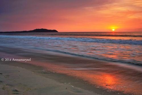 sunset sky beach landscape mexico sand mexique messico litibu rivieranayarit atardecerenlitibu