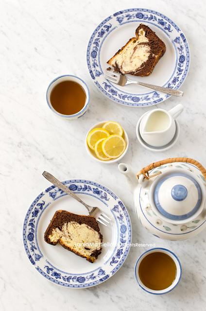Torta alla Vaniglia e Cacao-Vanilla and Cocoa Cake