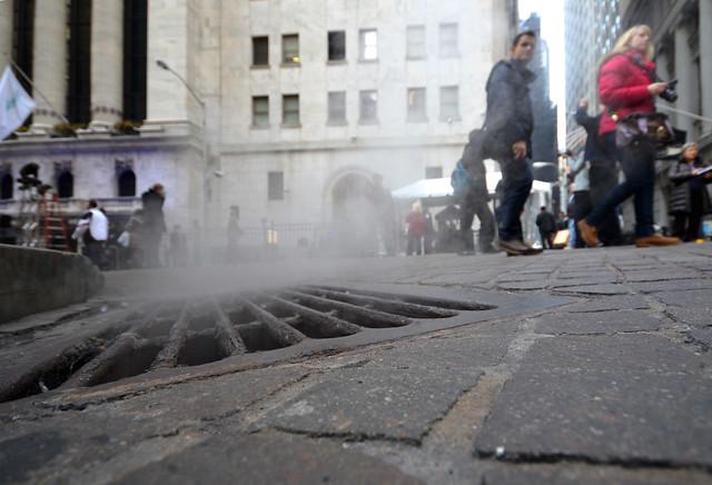 Alcantarillas humeantes de Nueva York