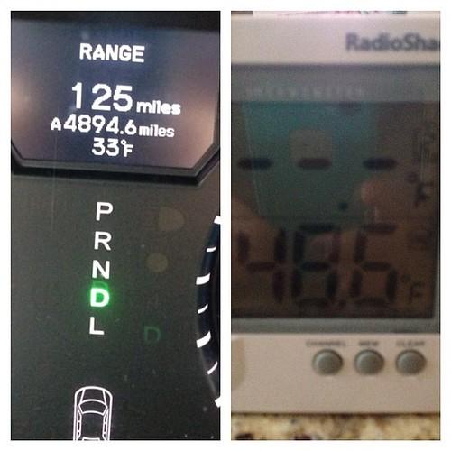 33 outside, 48.6 inside. #stillnopower