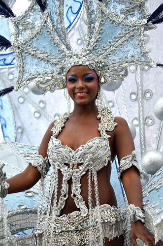 Carnival queen, Coso Apoteosis, Puerto de la Cruz, Tenerife