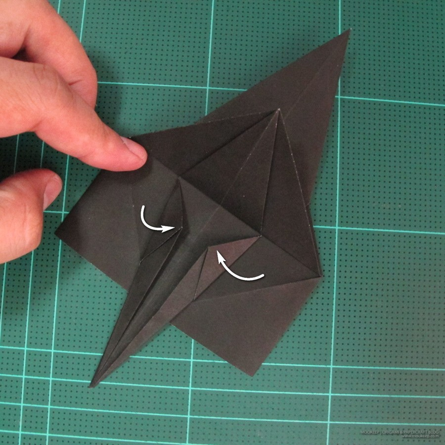 วิธีการพับกระดาษเป็นรูปจิงโจ้ (Origami Kangaroo) 007