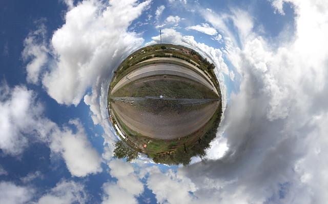 Gasolinera en Guarroman y cielo con Borreguitos, 360º Sphere