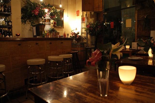 Restaurant charmant dans la Vieille Ville de Barcelone.