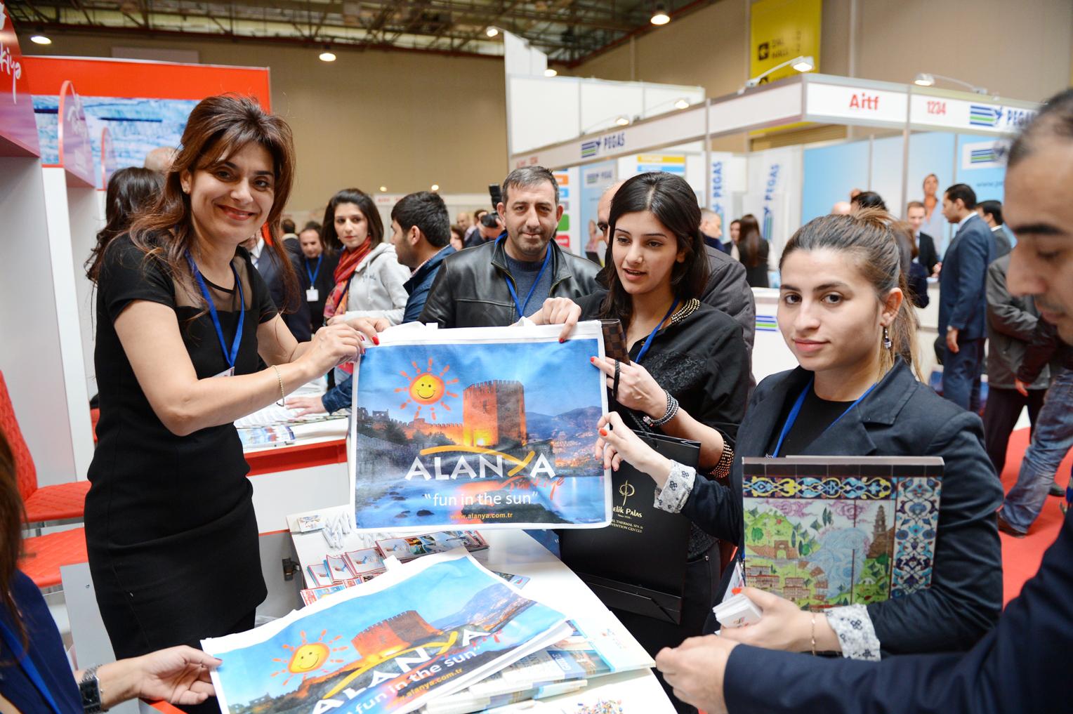 AITF Bakü Turizm Fuarı Azerbaycan, Alanya tanıtım materyalleri ilgi gördü.