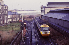 A diverted HST approaches Abbeyhill Station with  Kings Cross to Edinburgh train....