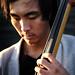 Bassist Yoshi Horiguchi by strobist