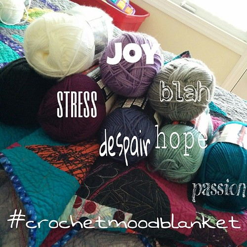 Love the idea of the mood blanket.  Going to get started now.  Excited.  I'll be catching up for the earlier weeks this year. #crochetmoodblanket2014