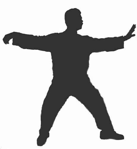 Tai Chi Donald Single Whip Silloutte courtesy of Wikimedia Commons