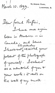 Sherrington to Ruffini - 10 March 1899 (WCG 48.9)