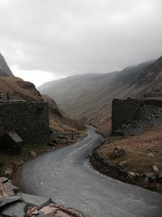 Cumbria mobile phone Honister Pass by mine 270414