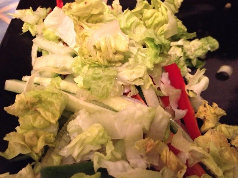 Succulent Sticky Pork : Add the Chopped Lettuce