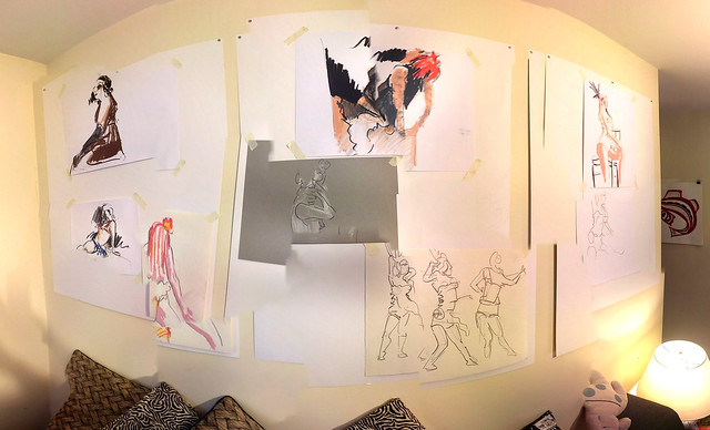 Drawings on the wall - surround