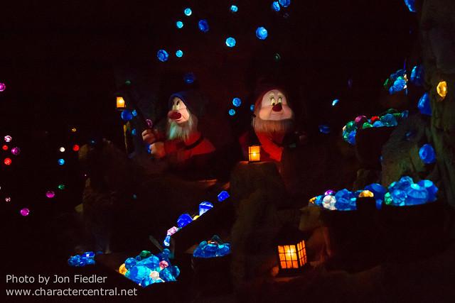 WDW Dec 2014 - Riding the Seven Dwarfs Mine Train