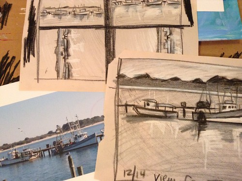 View from The Shark sketches