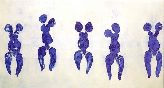 Yves Klein, Anthropométrie de l'époque bleue, (ANT 82), 1960 © Yves Klein ADAGP, Paris, 2015