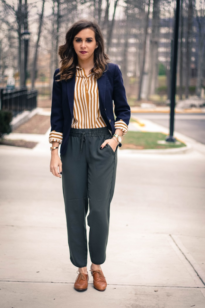 va darling. blogger. fashion blogger. dc blogger. jcrew. office attire. loft trousers. leather brogues. 3