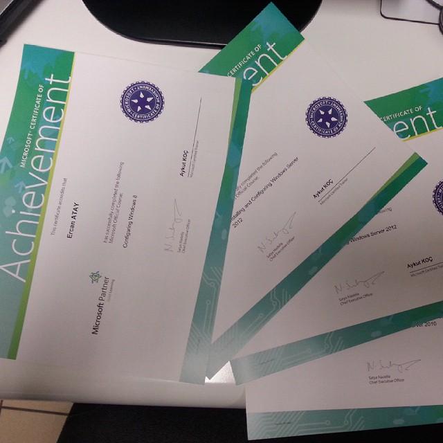 Microsoft Certificate Of Achievement Configuration Windows 8
