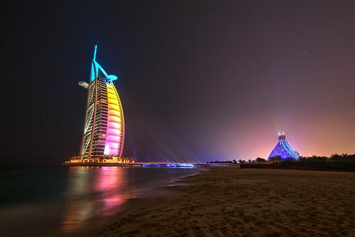Burj Al Arab & Jumeirah  Beach  Hotel - Dubai