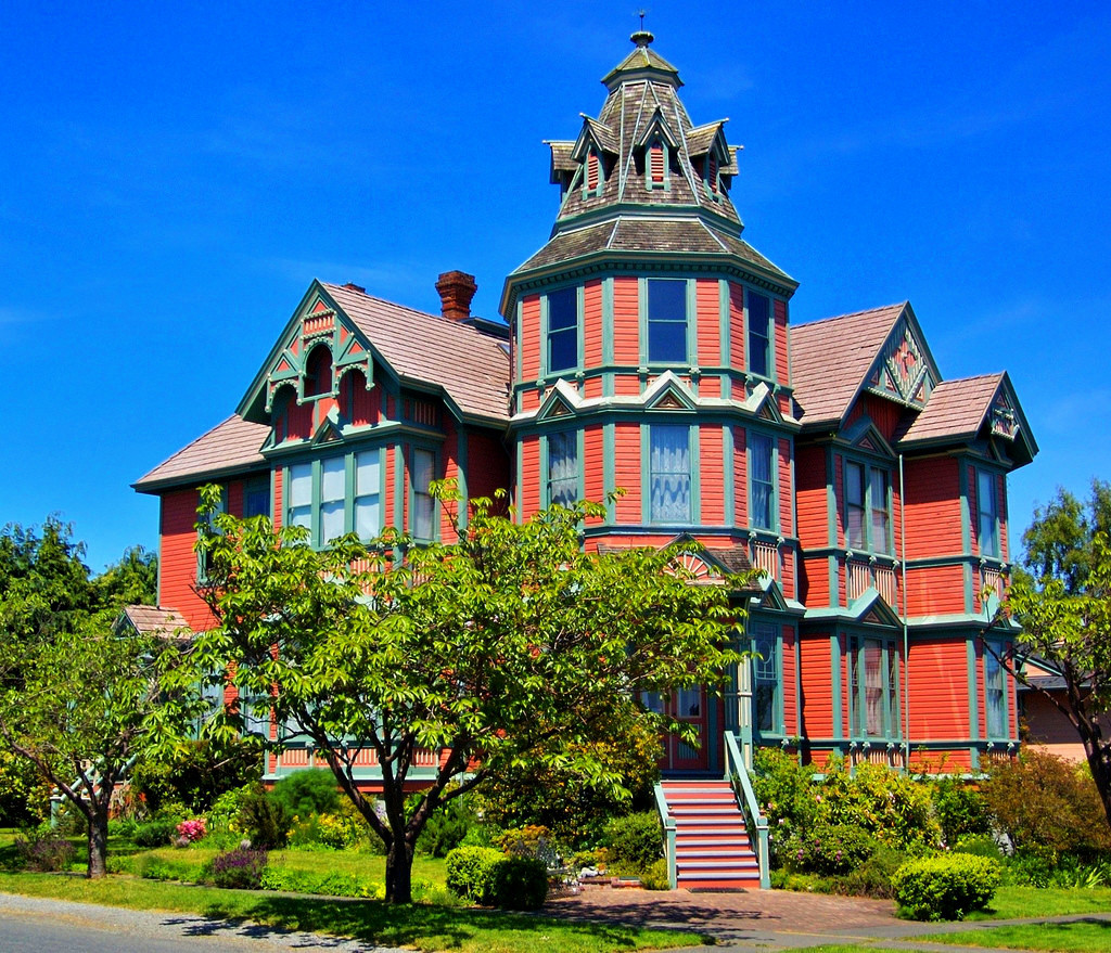 The Ann Starrett Mansion, Port Townsend, Washington. Credit A. Davey