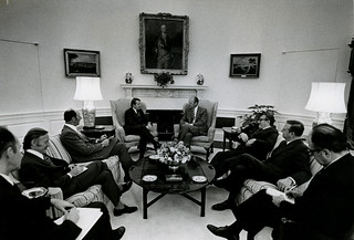 Gerald Ford & Wallace Rowling (1975)
