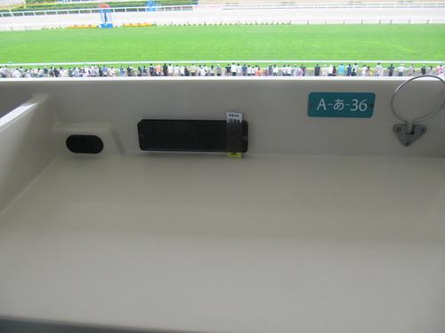 函館競馬場の指定席テーブル