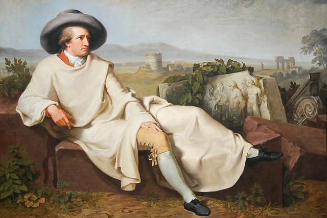 Goethe in the Roman Campagna by  Johann Heinrich Wilhelm Tischbein (1751–1829), Rome, 1787