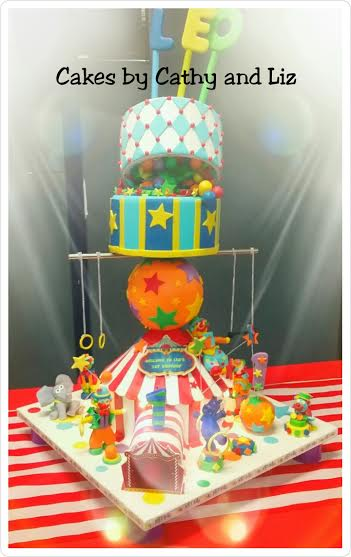 Roll up..Roll up..Circus Theme Birthday Cake from Cakes by Cathy and Liz