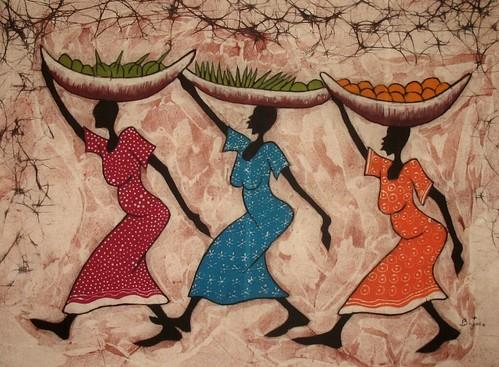Escena mujeres de Gambia
