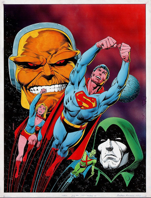 Brian Bolland 1983 Superman Annual Cover