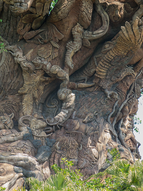 Tree of Life - with Animal Carvings