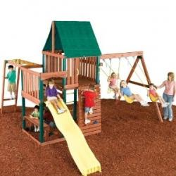 Wooden Backyard Playground Set