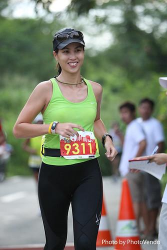 Jaymie, The Bull Runner, during her first marathon