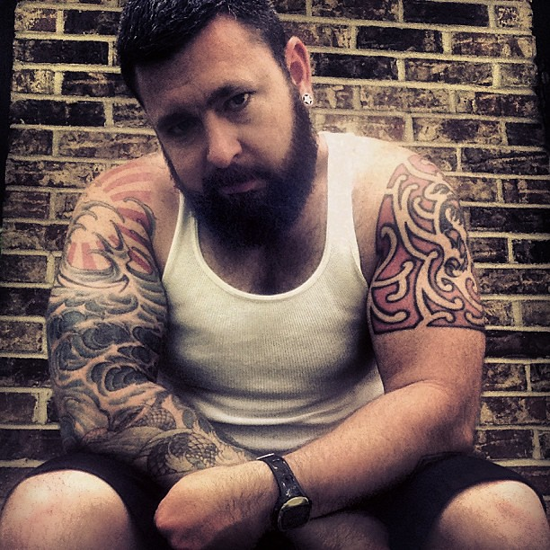 Men with beards tattoos and muscles seems magnificent