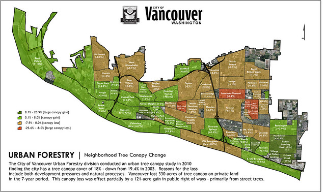 Changes in Vancouver, WA, Canopy