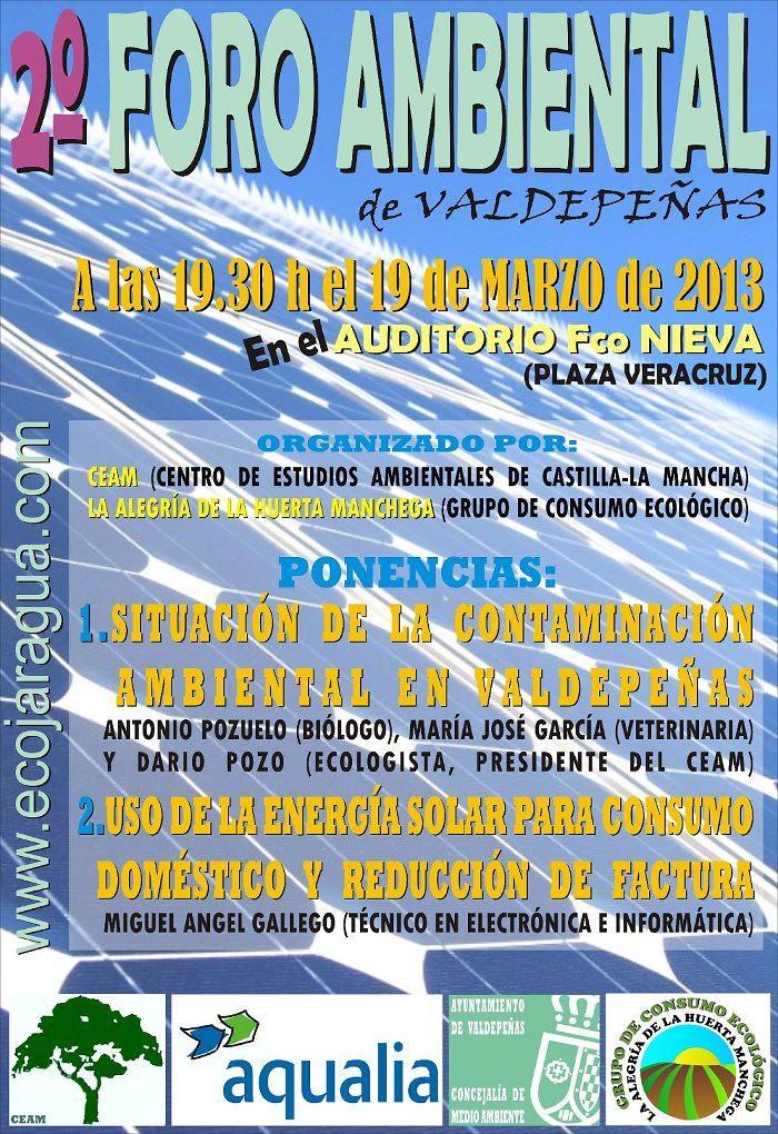 Cartel para el 2º foro ambiental de Valdepeñas