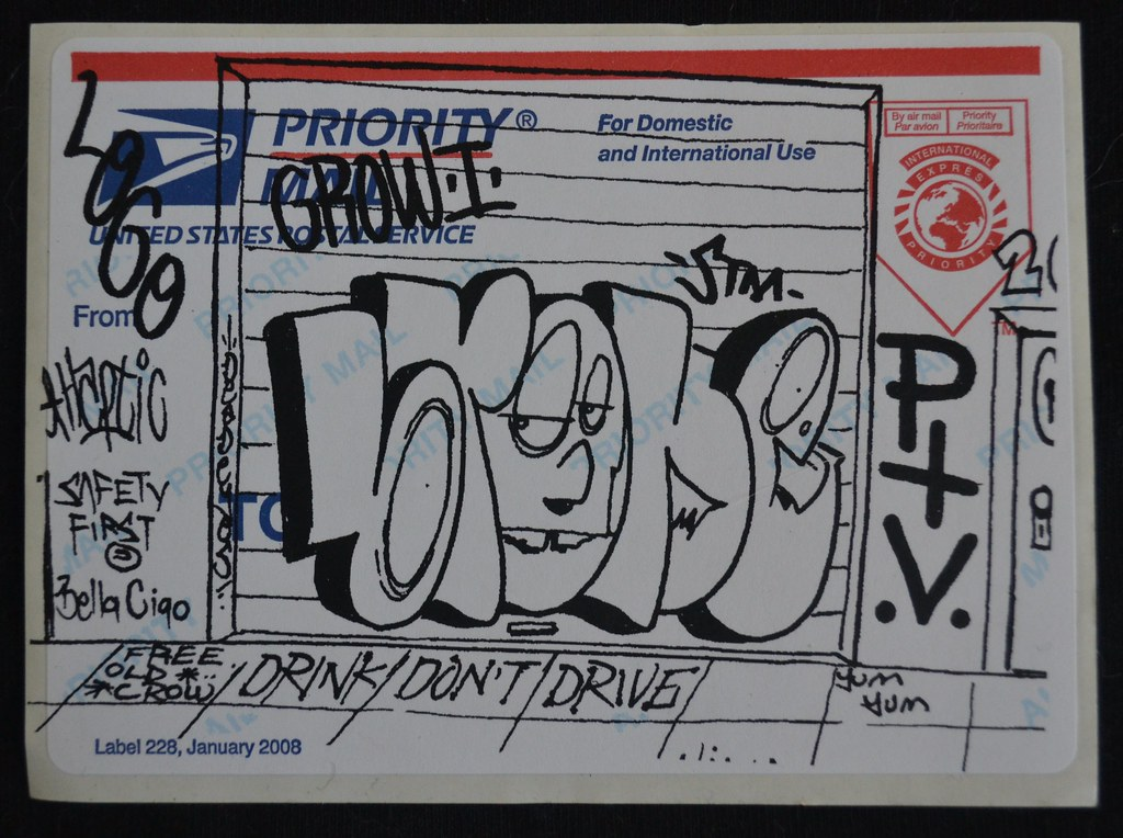 BROKE ONE, BROKE, PTV, STM, Street Art, Graffiti, Sticker