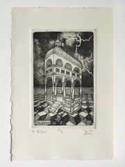 16: The Tower limited edition intaglio print