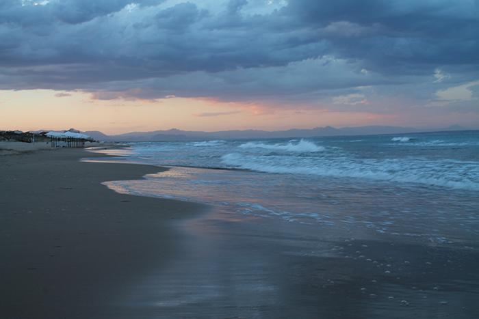 Atardecer en la playa 2