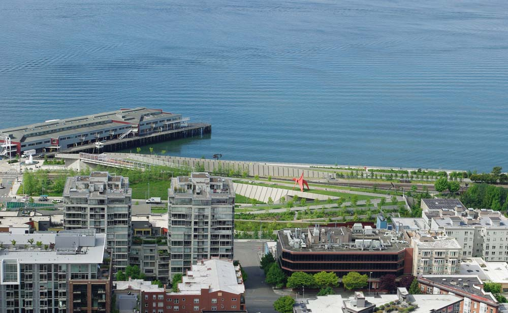 Olympic Sculpture Park from Space Needle