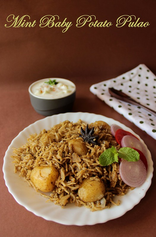 Mint Baby Potato Pulao