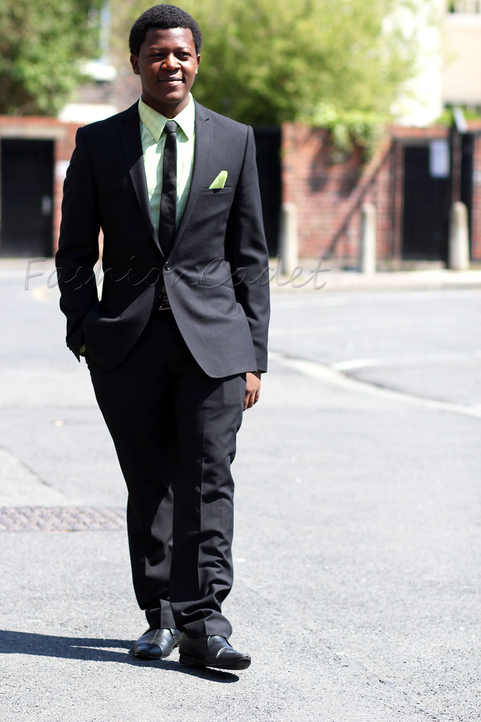 Green checked shirt & black suit: Men's Style | FashionCadet