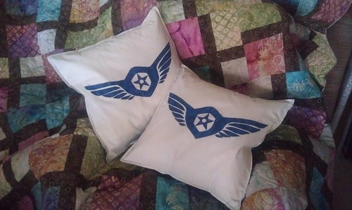 Gipsy Danger cushion covers - finished!
