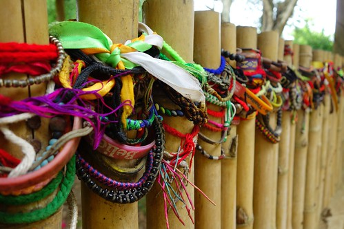 Bracelets at mass grave, Killing Fields