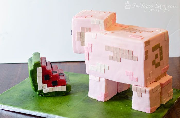Minecraft Birthday Cake Tutorial Ashlee Marie